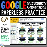 5th Grade Measurement: Customary Conversions {5.MD.1} Google Classroom