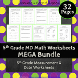 5th Grade Measurement & Data Worksheets: 5th Grade MD Worksheets 5.MD Worksheets