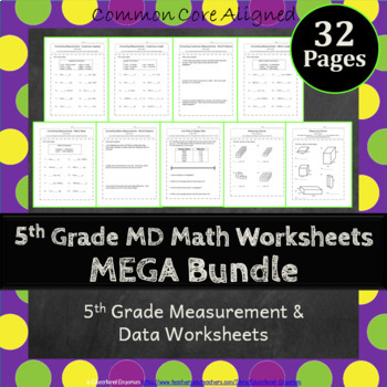 5th Grade Measurement & Data Worksheets: 5th Grade MD Work