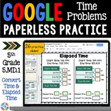 5th Grade Measurement: Elapsed Time & Time Conversions {5.MD.1} Google Classroom