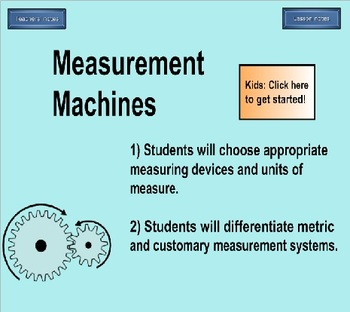 5th Grade Measurement Machines Computer Practice Activity for Students