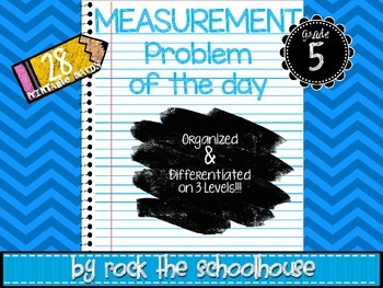 Measurement Task Cards - Math Problem of the Day ( 5th gra