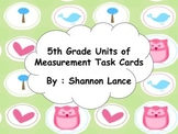 5th Grade Measurement Task Cards