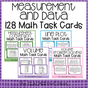 Measurement and Data Task Card Bundle for 5th Grade