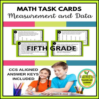5th Grade Math Task Cards - Measurement and Data
