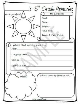 5th Grade Memories