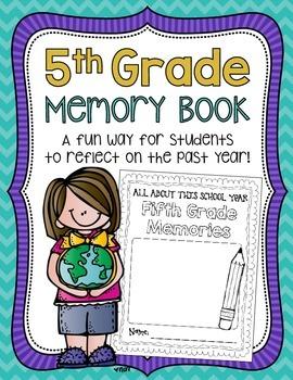5th Grade Memory Book