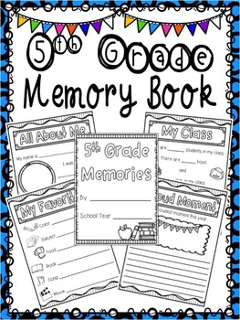 5th Grade Memory Book - End of Year