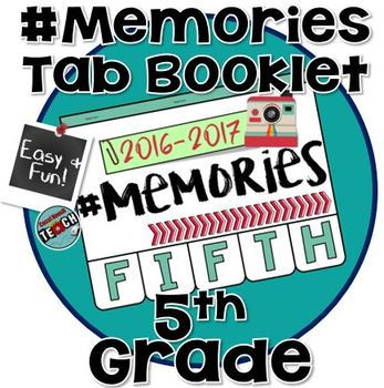 Memory Book 5th Grade - End of the Year Activity