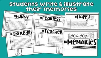 2018 Memory Book 5th Grade - End of the Year Activity
