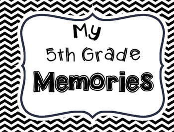 Memory Book for 5th Grade End of the Year
