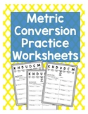 Metric Conversion Worksheets
