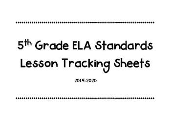 5th Grade Michigan ELA Standards Tracking Sheets