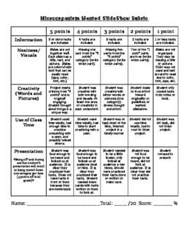 5th Grade Microorganism Project Rubrics & Instructions BUNDLE