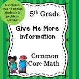 5th Grade Missing Information Problem Solving