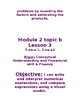 5th Grade Module 2 Eureka/ Zearn Learning Objectives and Success Criteria