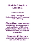 5th Grade Module 2 Eureka/ Zearn Learning Objectives and S