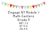 5th Grade Module 1 Centers
