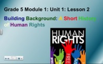 5th Grade Module 1, Unit 1, Lesson 2