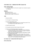 5th Grade Module 1 Unit 1 Student Task Cards - ALL Block -