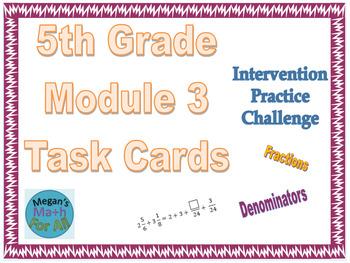 5th Grade Module 3 Task Cards - Editable