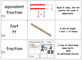 5th Grade Module 3 Vocabulary Cards - Engage NY/Eureka Math - SBAC - Editable