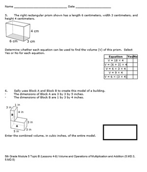 5th Grade Module 5 Quizzes for Topics A to D - Editable