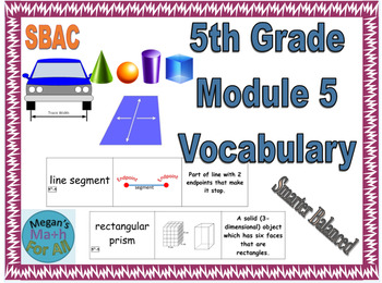 5th Grade Module 5 Vocabulary Cards - Engage NY/Eureka - SBAC - Editable
