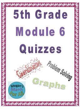 5th Grade Module 6 Quizzes for Topics A to E - Editable