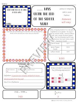 5th Grade Morning Work: April {Digital & PDF Included}