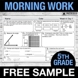 5th Grade Morning Work - FREE Sample