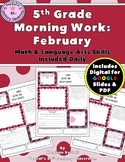 5th Grade Morning Work: February {Digital & PDF Included}