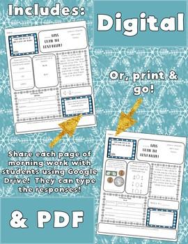 5th Grade Morning Work: January {Digital & PDF Included}