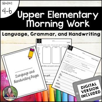 5th Grade Morning Work, Language and Handwriting