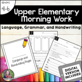 Upper Elementary Morning Work: Language, Grammar, & Handwr