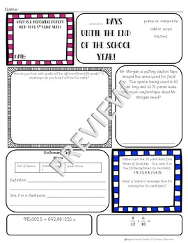 5th Grade Morning Work: May {Digital & PDF Included}