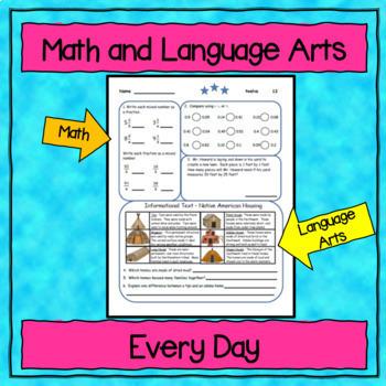 5th Grade Morning Work / Homework / Bell Work (Quarter 1)