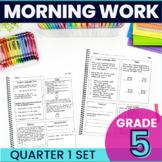 5th Grade Morning Work - Quarter 1