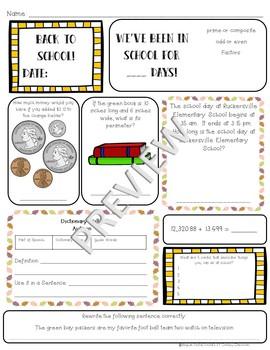 5th Grade Morning Work: September {Digital & PDF Included}