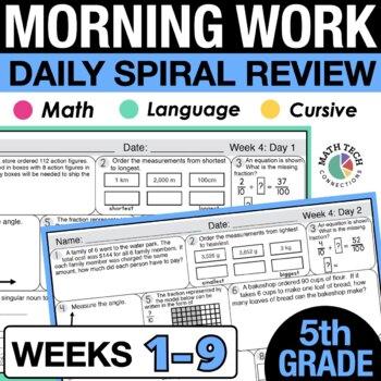 5th Grade Morning Work - Set 1