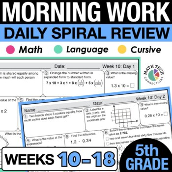 5th Grade Morning Work - Set 2