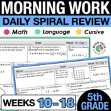 5th Grade Morning Work - Set 2