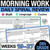 5th Grade Morning Work - Set 3 Homework, Spiral Review