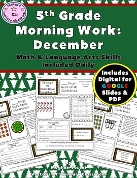 5th Grade Morning Work: December {Digital & PDF Included}