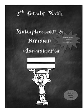 5th Grade Mulitplication Division Assessments