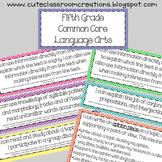 5th Grade Multi-Colored Chevron Common Core Objectives Combo Pack