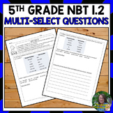 Number Patterns and Exponents Test Prep (NBT 1.2)