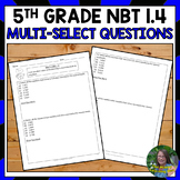 FSA Practice: Multi-Select Questions- Rounding Decimals (NBT 1.4)