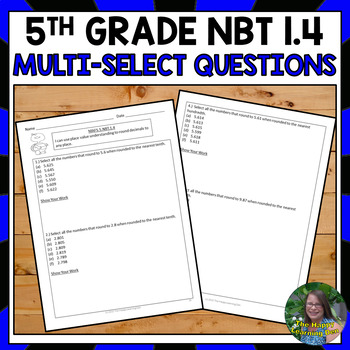 FSA 5th Grade Practice: Multi-Select Questions- Rounding D