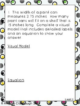 5th Grade Multi-Step Word Problems